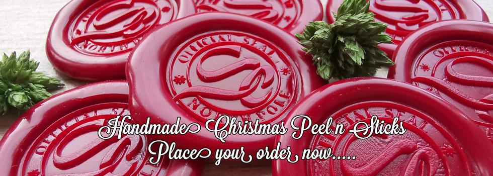 Christmas Peel n Sticks Wax Seal Stickers