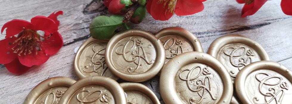 Sealing wax peel n stick impressions handmade