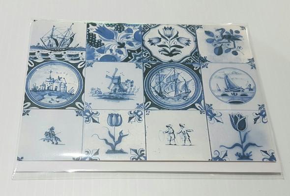 Delfts Blauwe Tegels : Kaart delfts blauw tegels card delft blue tiles dutch deals