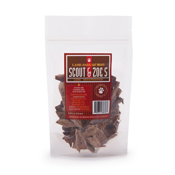 Lamb Lung Cat Treats in package