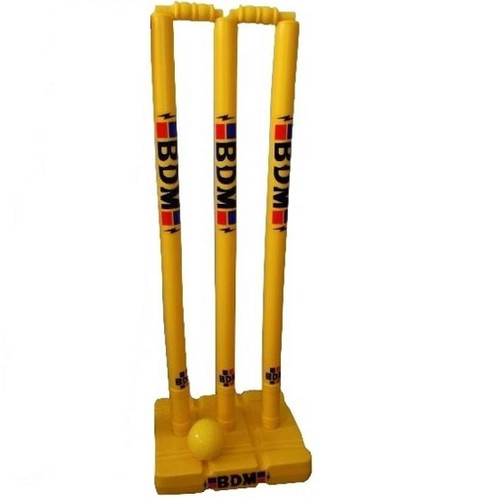 BDM Plastic Cricket Stumps With Base
