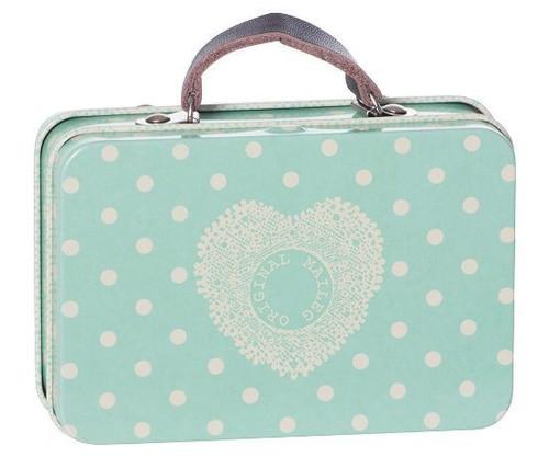 Maileg Metal Suitcase Big Blue Dots