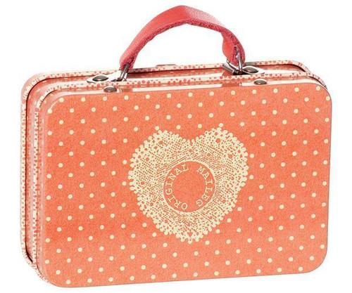Maileg Metal Suitcase Orange Dots