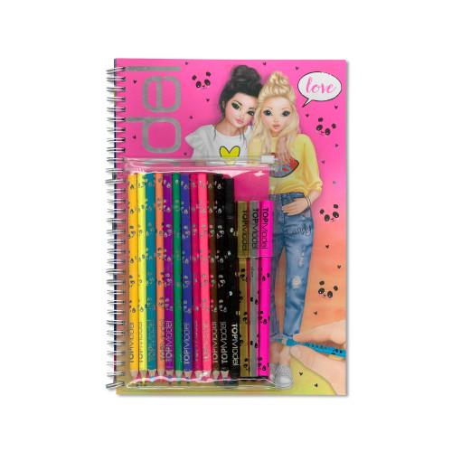 Top Model Colouring & Activity Book with Colour Pen Set