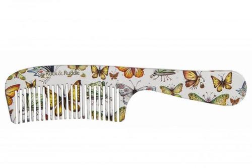 Rock & Ruddle Comb Handle - Butterflies