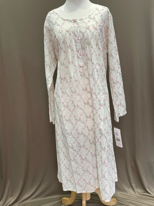 French Country Long Sleeve NIghtie FCS322