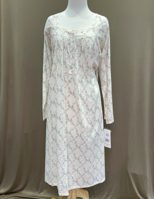 French Country Long Sleeve Nightie FCS321