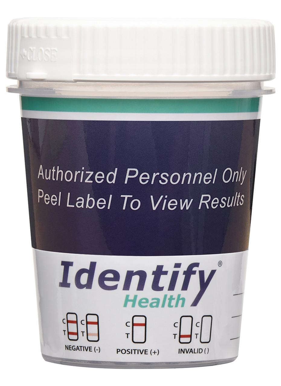 14 Panel Drug Test Cup with ETG, FEN, K2, TRA - Identify Health