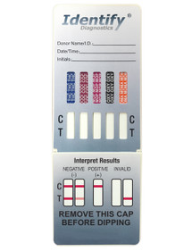Identify Diagnostics 10 Panel Drug Test Dip - CLIA Waived, FDA Approved