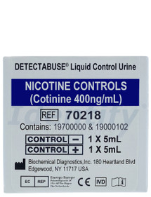 Liquid Control Urine - Negative Positive Set - Nicotine Cotinine Detectabuse - 702018