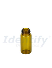 5ML Amber Glass Dram Vials - Liquid Bottles Only - Caps Sold Separately