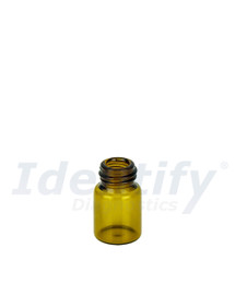 2ML Amber Glass Dram Vials - Liquid Bottles Only - Caps Sold Separately