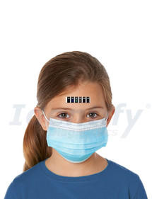 Forehead Temperature Strips by Feverscan  - Disposable Self Applied Thermometers - P436 - Identify Diagnostics