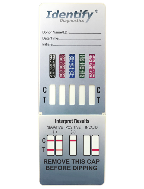 Identify Diagnostics 5 Panel Drug Test Dip - CLIA Waived - OTC Cleared