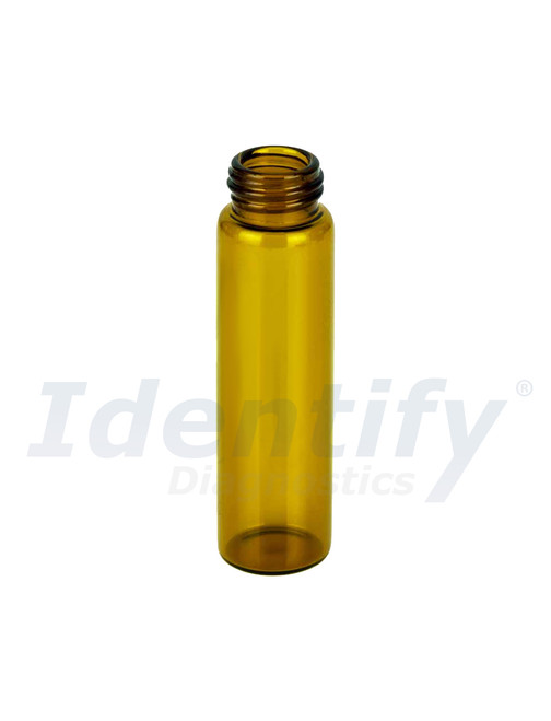 10ML Amber Glass Dram Vials - Liquid Bottles Only - Caps Sold Separately