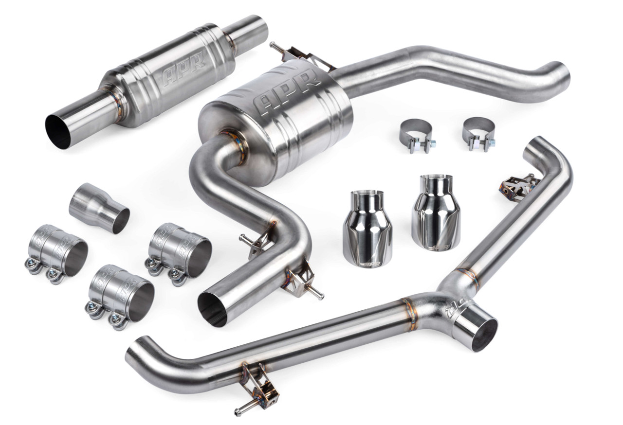 APR Exhaust - Catback System with Front Muffler - MK6 GTI