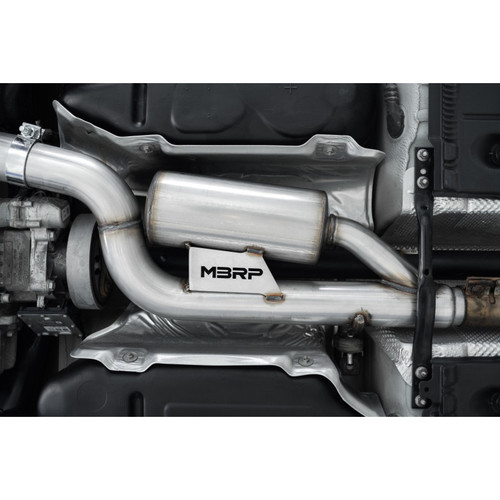 """MBRP PRO Series Volkswagen 3"""" Cat Back Exhaust with Quad Rear  CF Tips for MK7/7.5 Golf R ( Free Shipping!!)"""