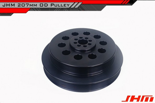 JHM HD Overdrive (207mm) OAD - Lightweight Supercharger Crank Pulley for B8-B8.5, S4-S5, C6-C7 A6-A7 and B8 Q5-SQ5 3.0T FSI