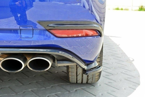 Maxton Design VW MK7.5 R (Facelift) Rear Side Splitter (Gloss Black)