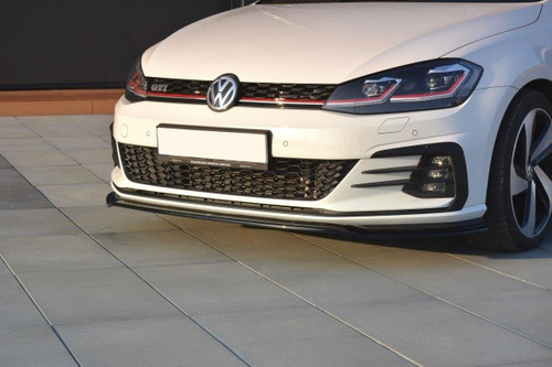 Maxton Design VW MK7.5 GTI (Facelift) Front Splitter V.2 (Gloss Black)