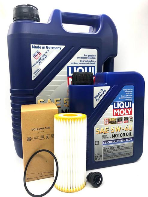Liqui Moly Leichtlauf Oil Service Kit (5w-40) (6L) For MK7 TSI/GTI/R,  Audi 8v A3/S3