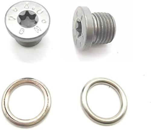 VW/Audi OEM Oil Drain Plug (N91167901) with Crush Washer. M14x1.5 (N0138157)