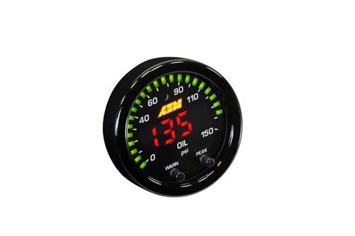 AEM X-Series Digital Oil Pressure Gauges 10 Bar/150 PSI  30-0307