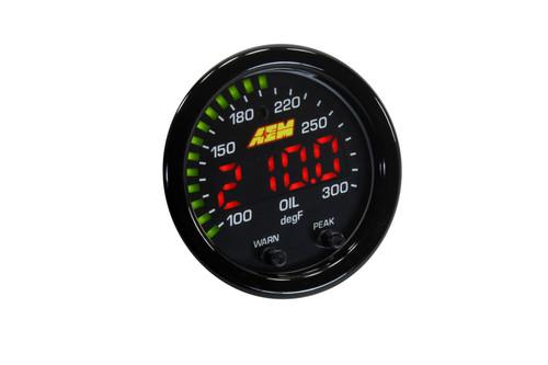 AEM X-Series 300F/150C Water/Trans/Oil Temperature Gauge 30-0302
