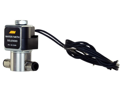 AEM Water/Methanol Injection High-Flow Low-Current WMI Solenoid (2-WAY, Normally closed 12V Valve With Stain) 30-3326