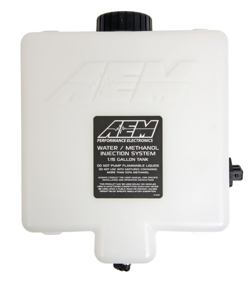 AEM Anti-Starv V3 Water/Methanol Injection 1.15 Gallon Tank Kit with ation Reservoir and Conductive Fluid Level Sensor 30-3325