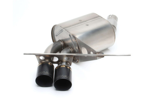 Dinan Free Flow Axle-Back Exhaust - 2008-2013 BMW 135i/135is  Stainless Steel - Polished Tips - E82/E88