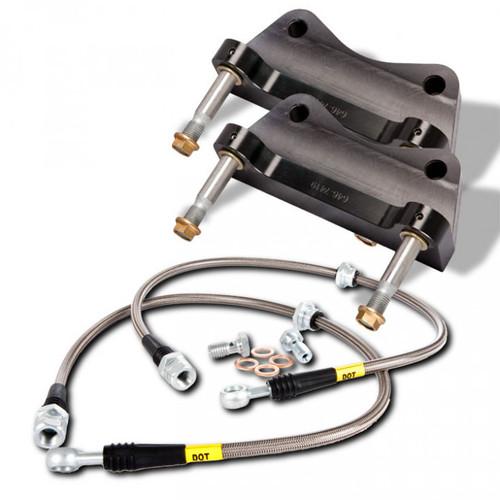 Stoptech ST-40 Big Brake Kit With 355x32 2-Piece Rotors & 4 Piston Caliper (Fits: VW MK7/7.5 Golf R and Audi 8V S3)