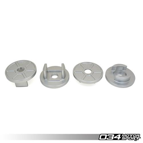 034 Motosport  Billet Aluminum Rear Subframe Mount Insert Kit, B8/B8.5 Audi S4/RS4, S5/RS5, Allroad, Q5/SQ5