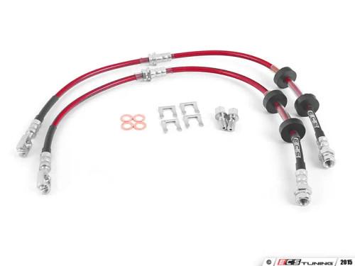 ECS Exact-Fit Stainless Steel Brake Lines Complete-Kit for Audi 8V A3/S3, MK3 TT, VW Arteon/MK7/7.5 Golf R, MK7 GLI and MK2 Tiguan