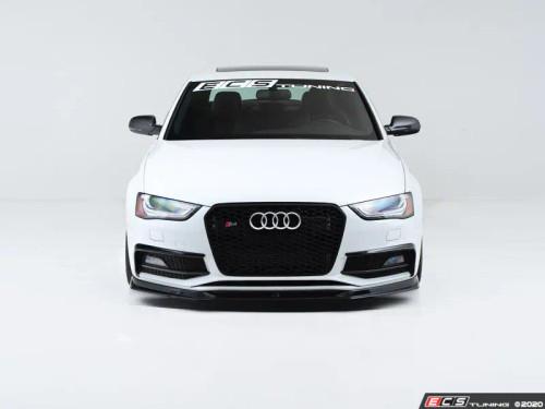 ECS Tuning Gloss Black Front Lip Spoiler for Audi B8.5 Facelift A4 S-Line or S4