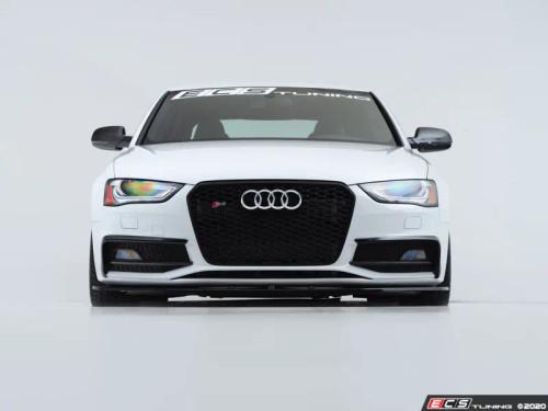 ECS Tuning Front Lip - Splitter Style - Gloss Black for Audi B8.5 Facelift S4 & A4 S-Line