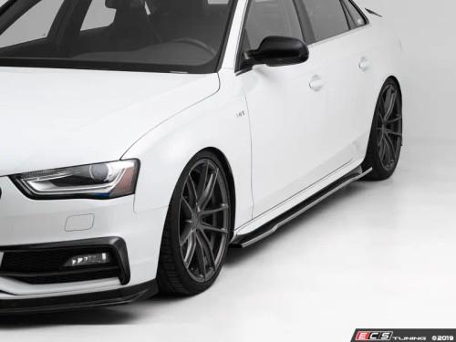 ECS Tuning Audi B8/B8.5 A4/S4 Flat Side Skirts - Gloss Black
