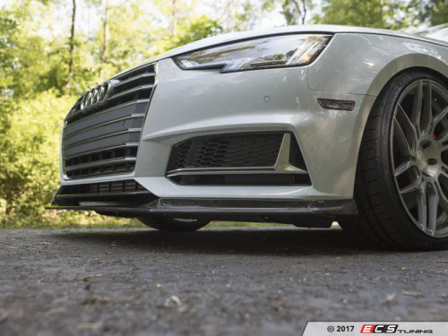 ECS Tuning Carbon Fiber Front Lip Overlay for Audi B9 A4/S4 (Fits up to 2019 model year with *pre-facelift* front bumpers)