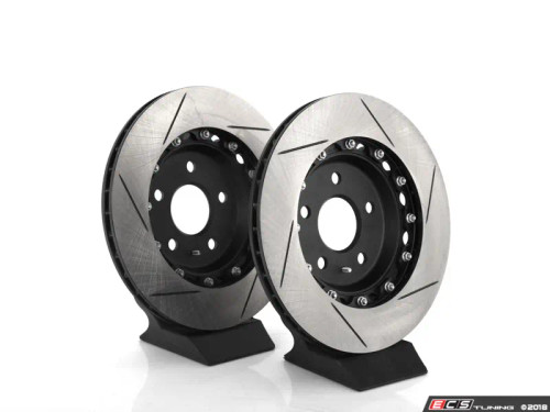 ECS Tuning Rear Slotted 2-Piece Semi-Floating Brake Rotors - Pair (310x22)