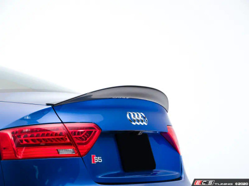 Audi B8/B8.5 A5 and S5 Trunk Spoiler (vehicles with integrated trunk spoiler)  - Gloss Black