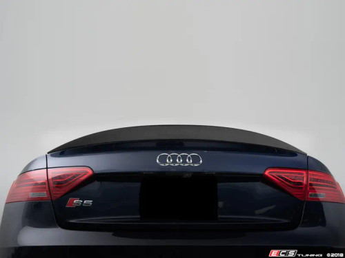 Audi B8/8.5 A5/S5 Carbon Fiber Trunk Spoiler (vehicles with integrated trunk spoiler)