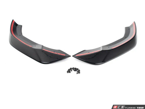 ECS Tuning Audi B9.5 Mid-Facelift S4/A4 S-Line Front Chin Spoilers - Gloss Black