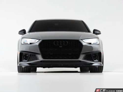 ECS Tuning Audi Mid-Facelift B9 A4 S-Line / S4 Grille Accent Set - Gloss Black