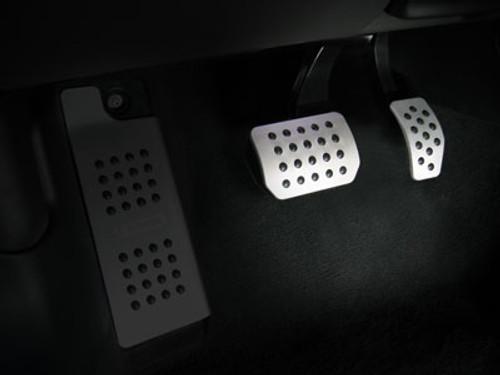 Rennline Pedal Set - 2 piece - Rubber Grip (Silver)