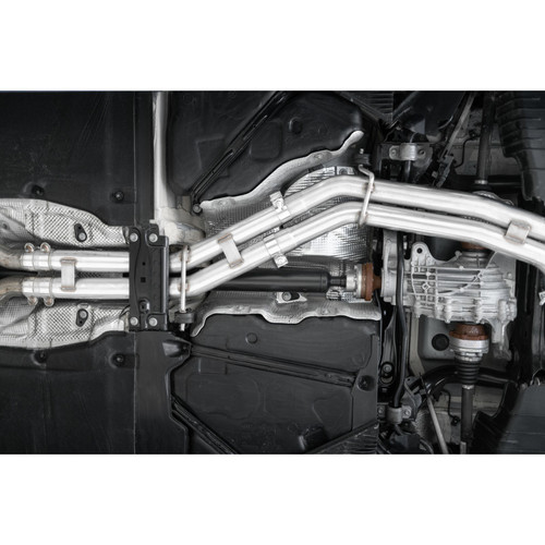 """MBRP T304 Stainless Steel 2.5"""" Resonator Back, Dual Rear Quad Tips Exhaust System for 2018-2021 Audi / S4 / S5"""