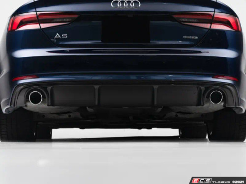 ECS Audi B9 A5 S-Line Rear Diffuser - Gloss Black