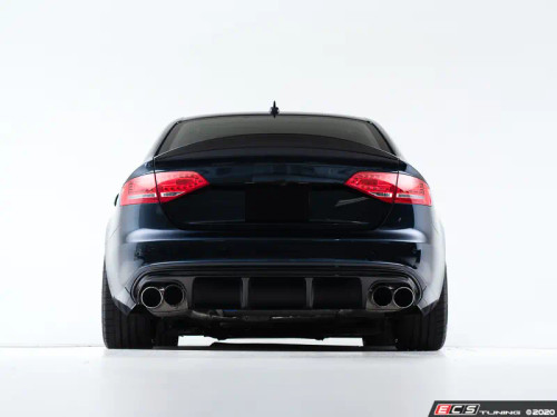 ECS Audi B8 S4 / A4 S-Line Rear Diffuser - Gloss Black