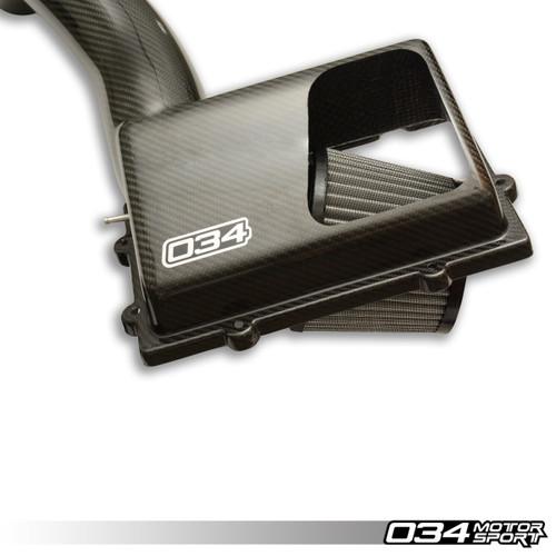 034 Motosport X34 Carbon Fiber MQB Open-Top Cold Air Intake System, 8V Audi A3/S3/TT/TTS & MkVII Volkswagen Golf/GTI/R, 1.8T/2.0T Gen 3