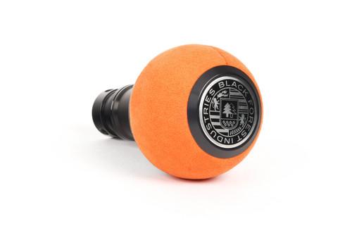 BFI GS2 DSG/Auto Heavy Weight Shift Knob - Orange Alcantara - Black Anodized (VW/Audi Fitment)