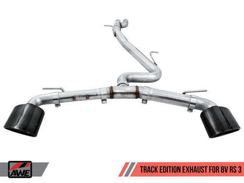 AWE Track Edition Exhaust for Audi 8V RS 3 - Diamond Black RS-style Tips